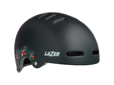 LAZER Armor LED Helmet, Matt Green Flowers