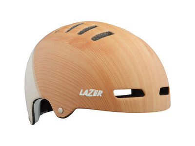 LAZER Armor LED Helmet, Matt Wood/White