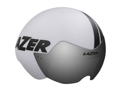 LAZER Victor Helmet, Matt White Stripes