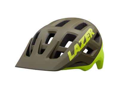 LAZER Coyote MIPS Helmet, Matt Green/Flash Yellow