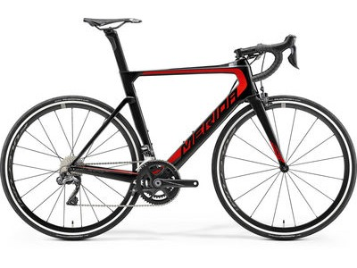 MERIDA Reacto 7000-E S (50cm) Gloss Carbon/Red  click to zoom image