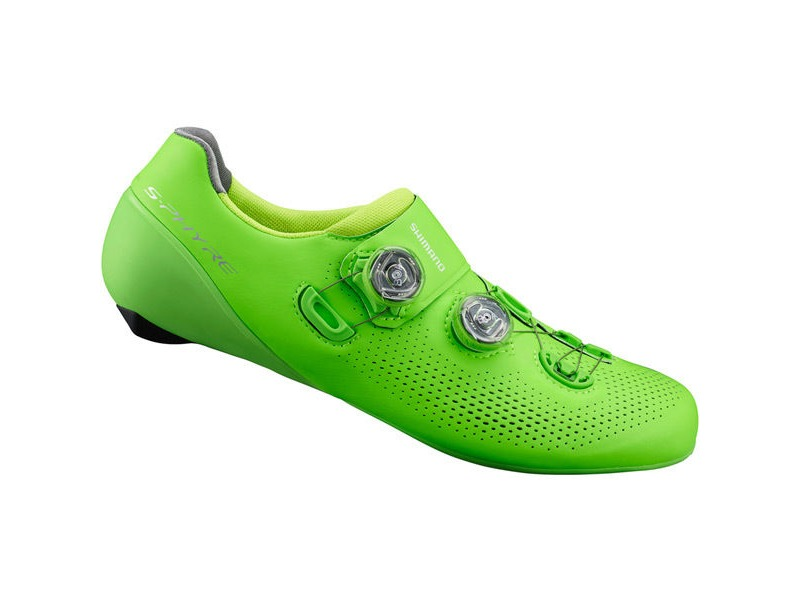 SHIMANO S-PHYRE RC9 (RC901) SPD-SL Shoes, Green click to zoom image