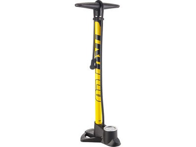 TRUFLO Easitrax 3 track pump with gauge, max 160 psi, yellow