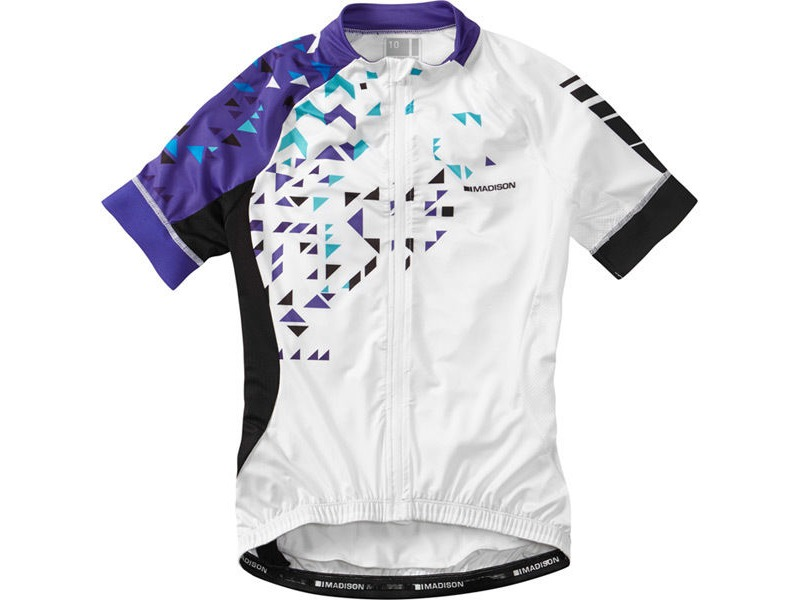 MADISON Sportive women's short sleeve jersey, white / purple reign click to zoom image
