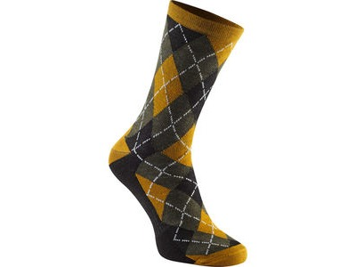MADISON Assynt merino long sock, mango argyle