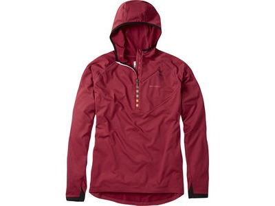 MADISON Zenith men's long sleeve hooded top, blood red