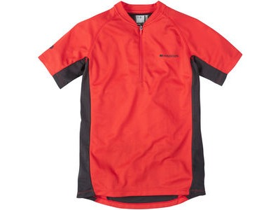 MADISON Trail youth short sleeved jersey, flame red