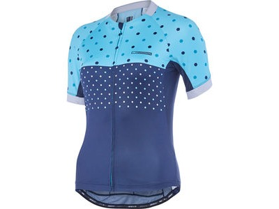 MADISON Sportive Apex women's short sleeve jersey, blue curaco/ink navy hex dots