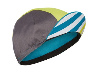 MADISON Sportive poly cotton cap block stripe peacock blue/sharp green one size